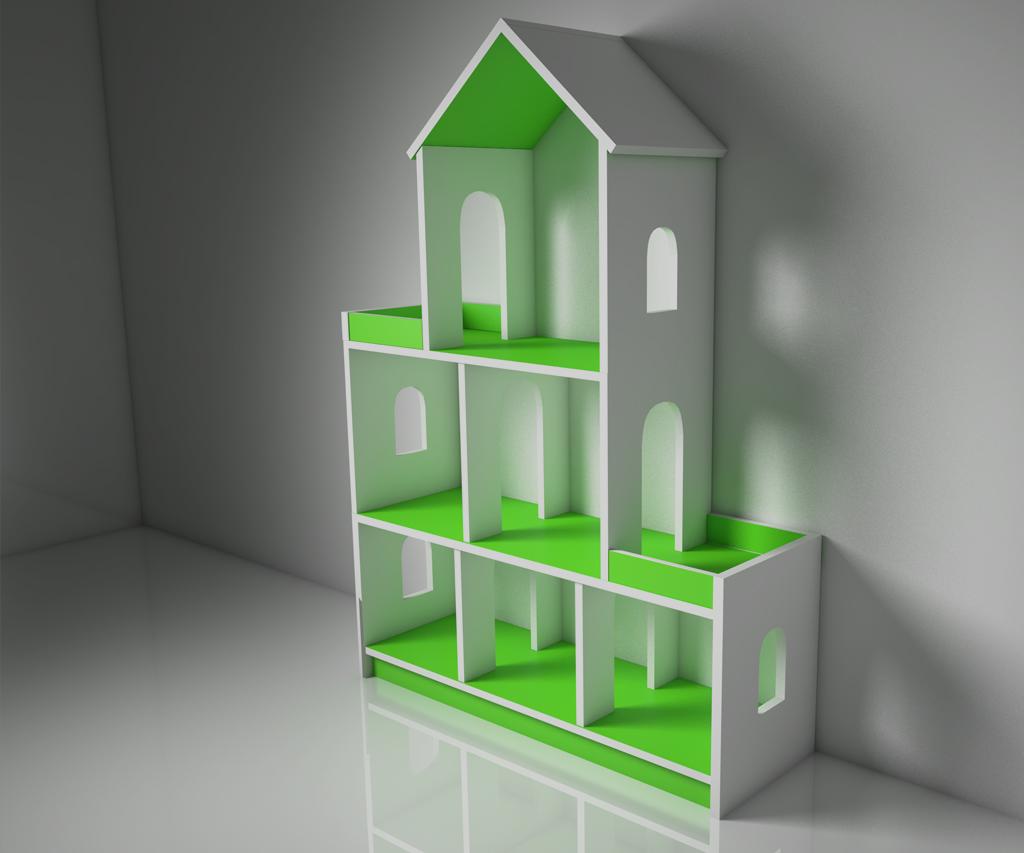 Кукольный домик с мебелью SUNNYWOODS Алина - купить по лучшей цене ... | 853x1024